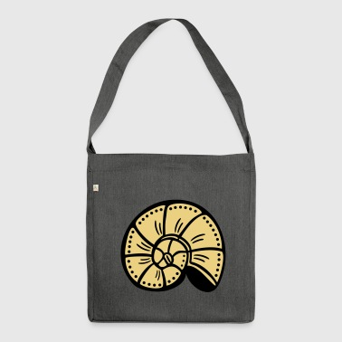 Shell snail shell gift - Shoulder Bag made from recycled material