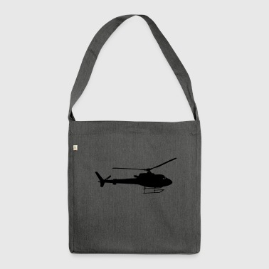 Helicopter fly gift idea fast - Shoulder Bag made from recycled material