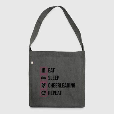 Eat Sleep Cheerleading Repeat - Shoulder Bag made from recycled material