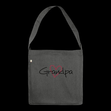 Grandpa best grandpa gift - Shoulder Bag made from recycled material