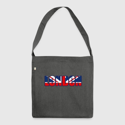 London lettering - Shoulder Bag made from recycled material
