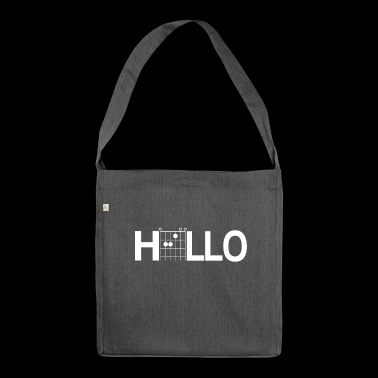 Hello Guitar Chords Shirt - Shoulder Bag made from recycled material