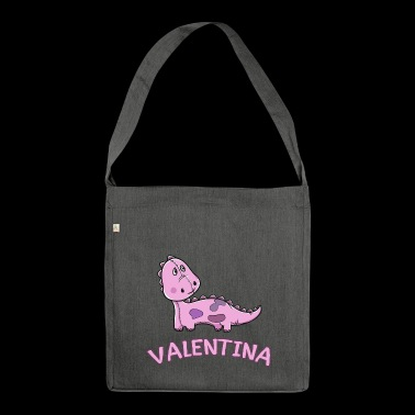 Dinosaur funny child valentina gift birth - Shoulder Bag made from recycled material