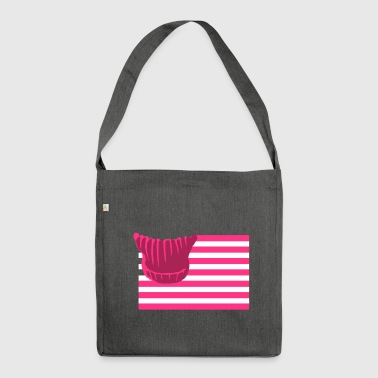 potere Pussyhat Flag Lady - Borsa in materiale riciclato