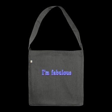 I'm fabulous blue I'm fabulous - Shoulder Bag made from recycled material