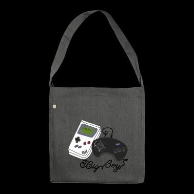 video gamer giochi game boy disadattato joystick - Borsa in materiale riciclato
