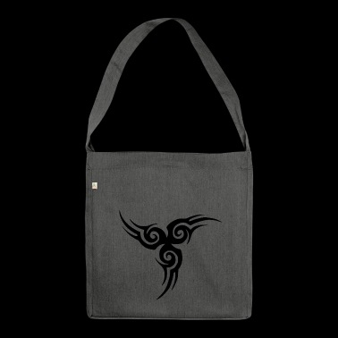 Tribal tattoo - Sac bandoulière 100 % recyclé
