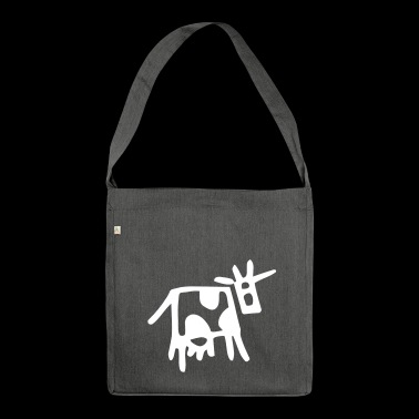 Funny cow - Shoulder Bag made from recycled material