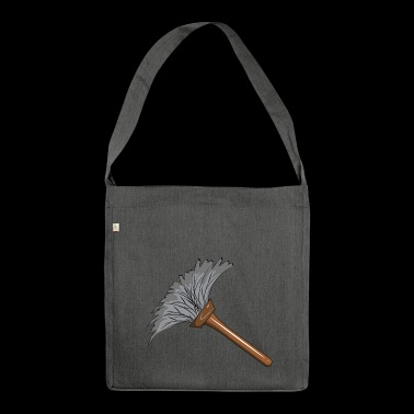 cleaning cleaning cleaning woman broom wischmop43 - Shoulder Bag made from recycled material