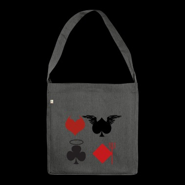 Playing Cards Angel Devil Poker Gift - Shoulder Bag made from recycled material