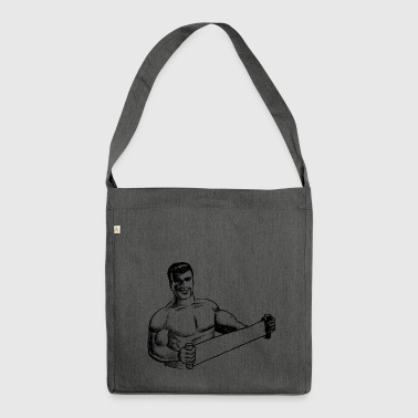 body builder - Shoulder Bag made from recycled material