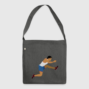 Athlete (long jump) - Shoulder Bag made from recycled material