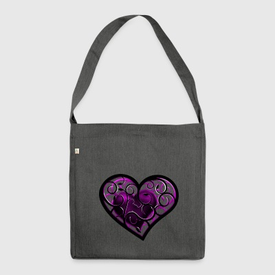 Heart ornament - Shoulder Bag made from recycled material