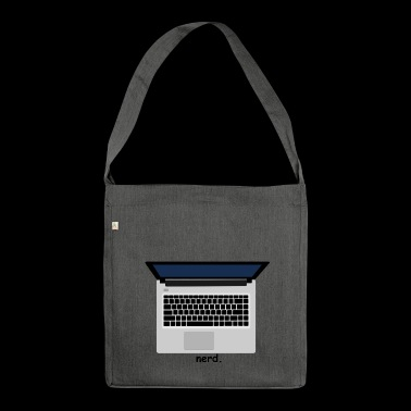 nerd laptop computer tech geek computer science - Shoulder Bag made from recycled material