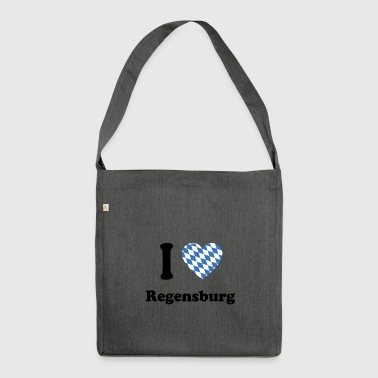 i love bayern bavaria Regensburg - Schultertasche aus Recycling-Material