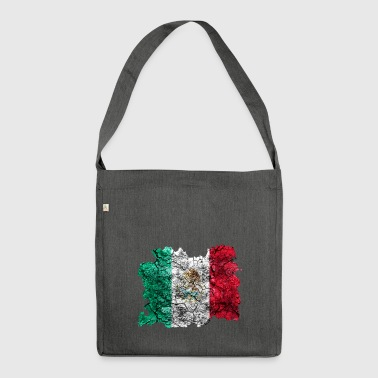 Mexiko Vintage Flagge - Schultertasche aus Recycling-Material