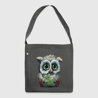 Owl - Schultertasche aus Recycling-Material