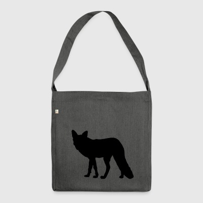 Fox Silhouette - Schultertasche aus Recycling-Material