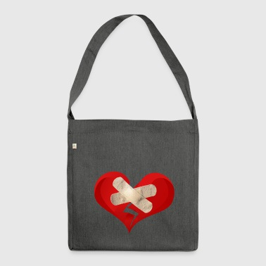 broken heart - Shoulder Bag made from recycled material