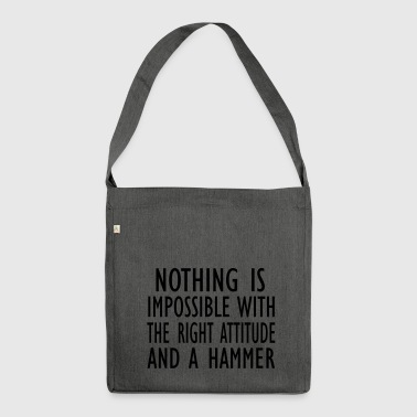 nothing is impossible - Shoulder Bag made from recycled material