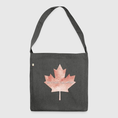 Colombie-Britannique Maple Leaf - Sac bandoulière 100 % recyclé