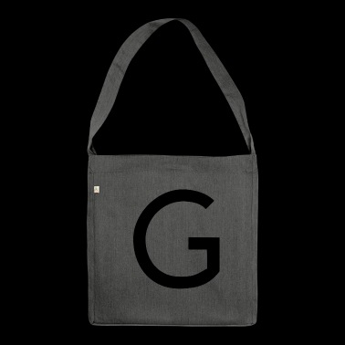 alphabet G - Shoulder Bag made from recycled material
