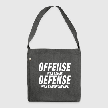 Offense Defense Championship - Shoulder Bag made from recycled material