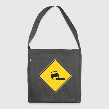 Road Sign car on board - Shoulder Bag made from recycled material