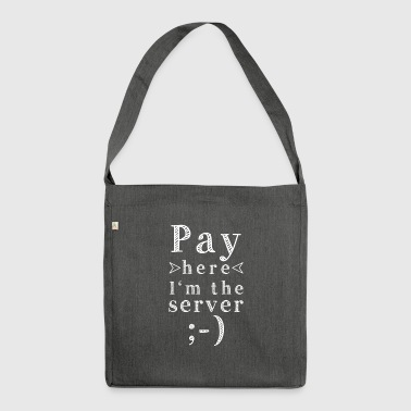 Pay here - Shoulder Bag made from recycled material