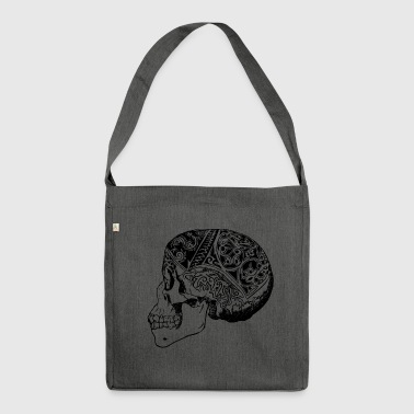 Borneo skull - Shoulder Bag made from recycled material