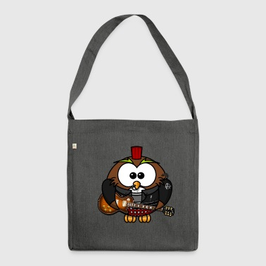 Rocky Owl Rock Music RocknRoll Comic Fun - Shoulder Bag made from recycled material