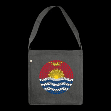 KIRIBATI LOVE HEART Mandala - Shoulder Bag made from recycled material