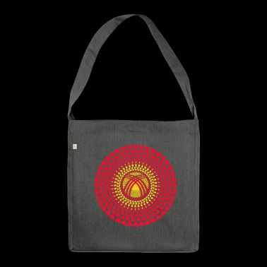 Kirgisia Kirgistan Kirgisistan Kirgisistan Mandala - Schultertasche aus Recycling-Material