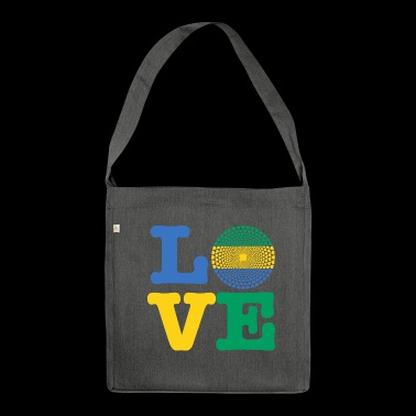 GABON HEART - Shoulder Bag made from recycled material