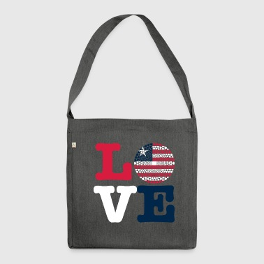 LIBERIA HEART - Shoulder Bag made from recycled material