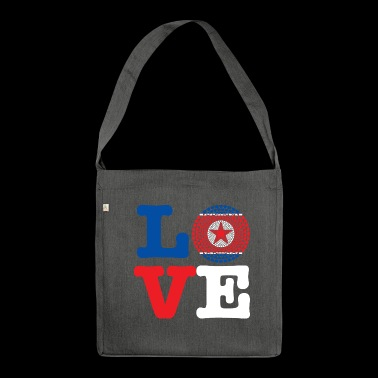 KOREA DEMO REP HEART - Shoulder Bag made from recycled material