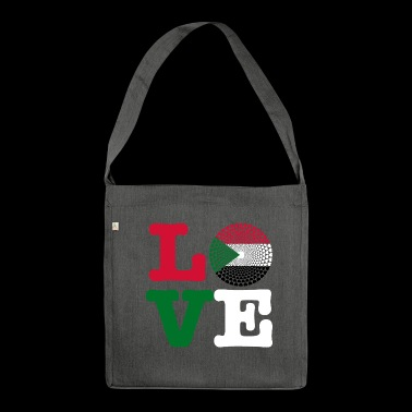 SUDAN HEART - Shoulder Bag made from recycled material