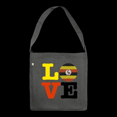 UGANDA HEART - Shoulder Bag made from recycled material