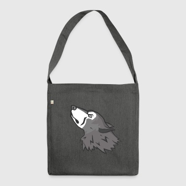 Wolf Mascot - Shoulder Bag made from recycled material