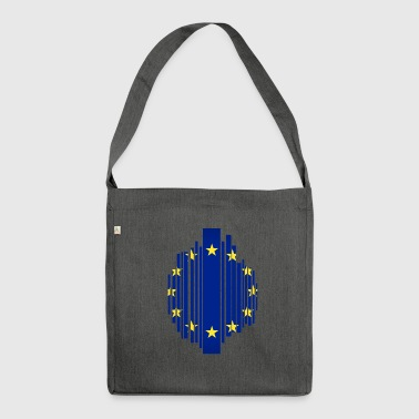 European Union EU grid flag - Shoulder Bag made from recycled material