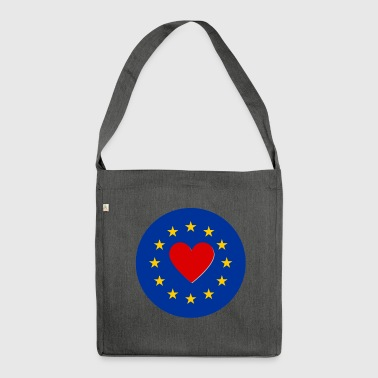 European Union EU Love Love - Shoulder Bag made from recycled material