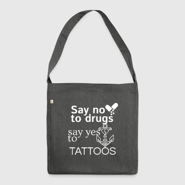 No drugs - Shoulder Bag made from recycled material