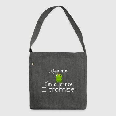 Kiss me - Schultertasche aus Recycling-Material