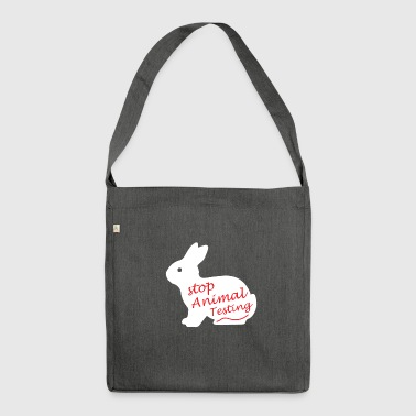 Stop Animal testing !! - Shoulder Bag made from recycled material