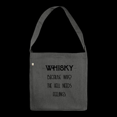 Whiskey Feelings - Whiskey Gift Idea - Schoudertas van gerecycled materiaal