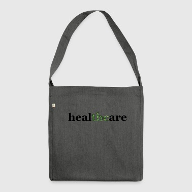 Gesundheitswesen thc weed cannabis hanf healthcare - Schultertasche aus Recycling-Material