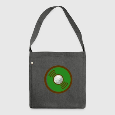 VINYL GOLD GOLD DESIGN - Shoulder Bag made from recycled material