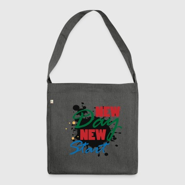 New day startup motivation winner gift idea - Shoulder Bag made from recycled material
