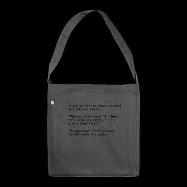 Funny programmer joke - Shoulder Bag made from recycled material