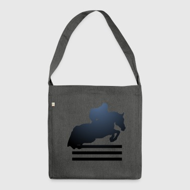 Show jumping, Stallion, Mare, Horse, Reitsport - Shoulder Bag made from recycled material
